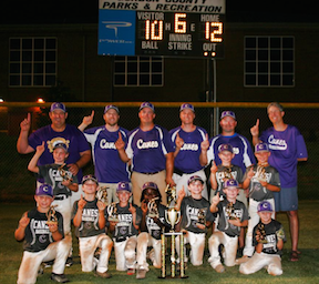 Cartersville Purple 8U wins GRPA Invitational