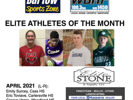April Elite Athletes of the Month