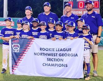 Cartersville Little League Rookie team advances to state tournament