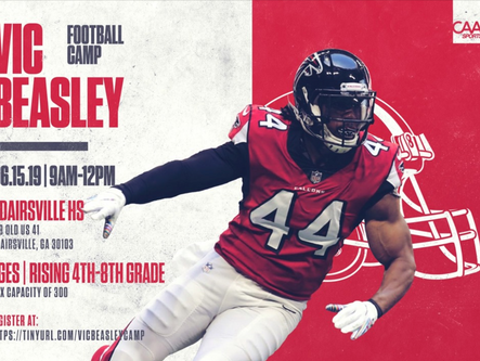 Vic Beasley summer youth football camp registration underway