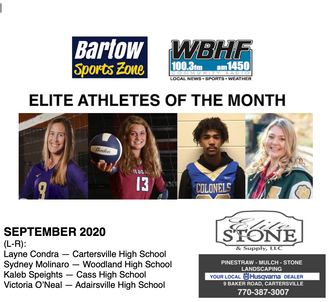 September Elite Athletes of the Month