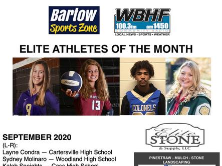 September Elite Athletes of the Month