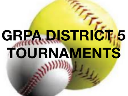 Six local teams remain in pursuit of GRPA District 5 softball, baseball titles