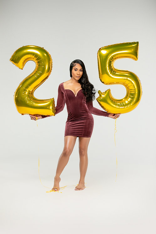 Large Numbered Balloons (Helium Included)