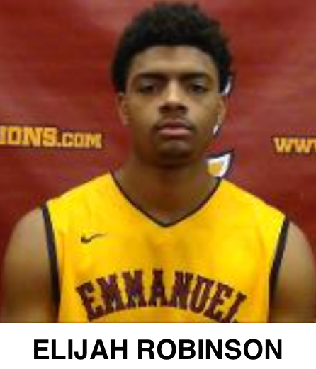 Elijah Robinson of Emmanuel College Lions