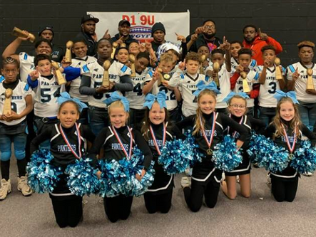 9U Bartow County Panthers win NWGYFL D1 championship, 10U Panthers win D2 title, and 12U Panthers fi