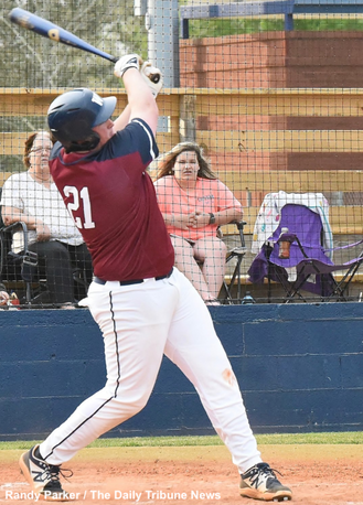 Valiant effort comes up just short as Woodland splits doubleheader with 8th-ranked Calhoun