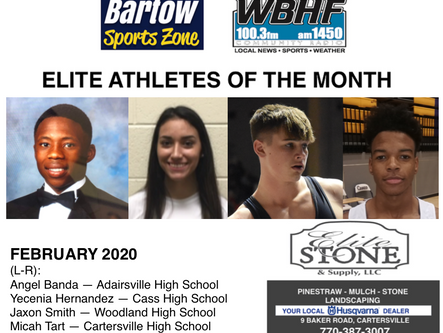 February 2020 Elite Athletes of the Month