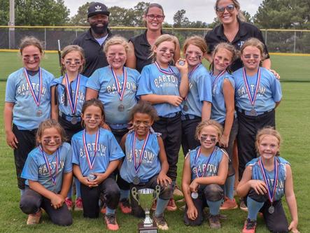 Bartow 8U softball finishes as GRPA state runner-up, Cartersville Purple 8U baseball places third
