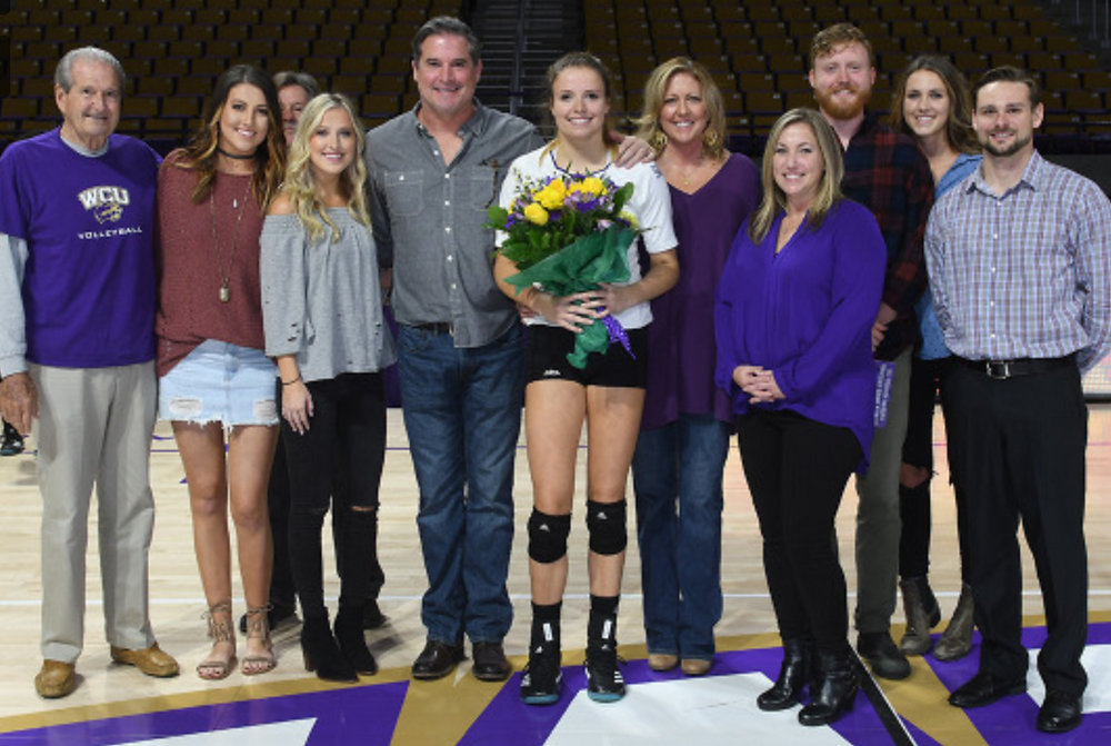 Katie O'Connor, Western Carolina University senior day