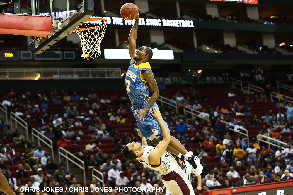 Southern University's Adrian Rodgers dunks. CREDIT: Chris Jones/Chris Jones Photography
