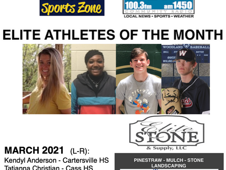 March Elite Athletes of the Month