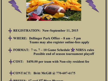 Adult flag football registrations now at CPRD
