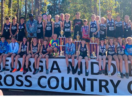 Woodland Middle School boys win state XC title