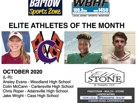 October Elite Athletes of the Month