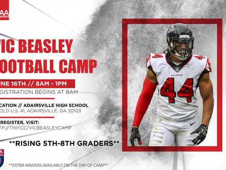 Vic Beasley Football Camp is June 16th