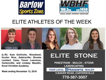 Elite Athletes of the Week