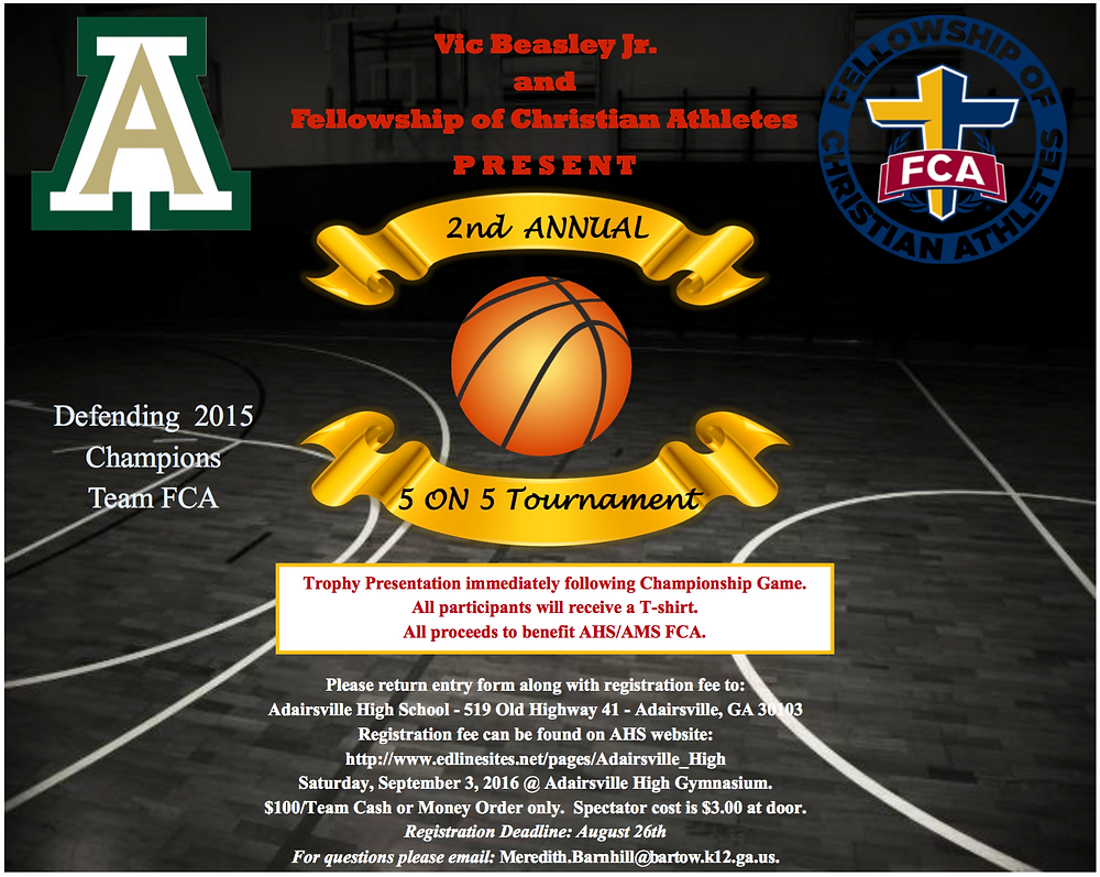 Vic Beasley FCA 5on5 2nd annual basketball tourney
