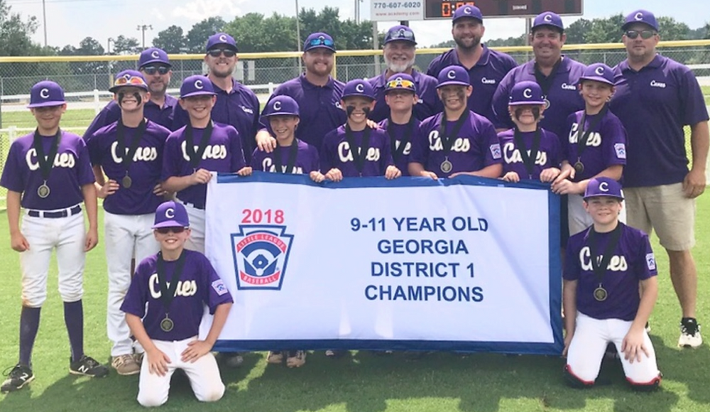 Cartersville LL 11U 2018 District 1 champions
