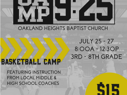 Oakland Heights Baptist Church to offer youth basketball camp this summer