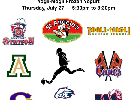 Kickoff Challenge for all five local high schools set for Thursday, July 27 at LakePoint Station