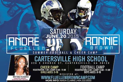 Fluellen, Brown hosting annual football and cheer camp at Cartersville High