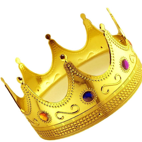 Gold Royalty Costume Crown (Kids)