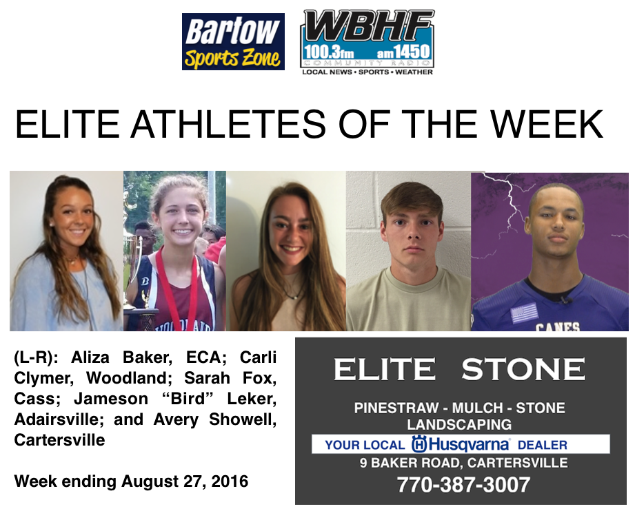 Elite Athlete of the Week, WBHF / Bartow Sports Zone