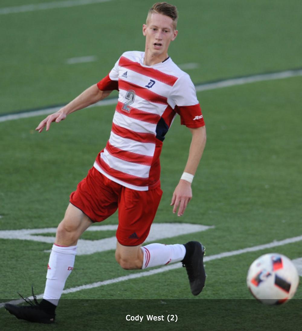 Cody West Duquesne men's soccer