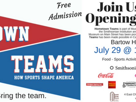 Opening ceremony for Hometown Teams exhibit Saturday at Bartow History Museum