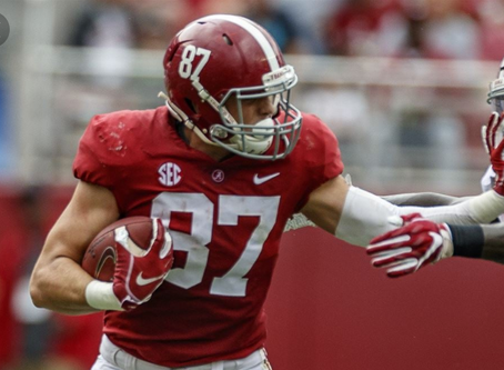 Injury to sideline Bama's Forristall for remainder of regular season