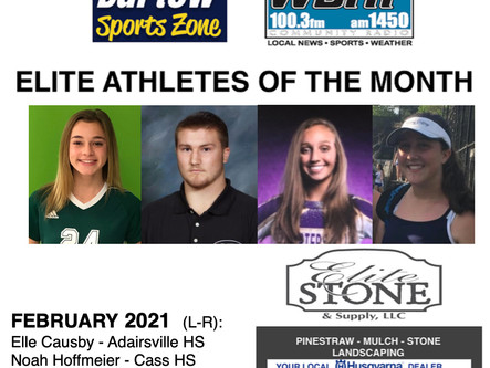 February Elite Athletes of the Month