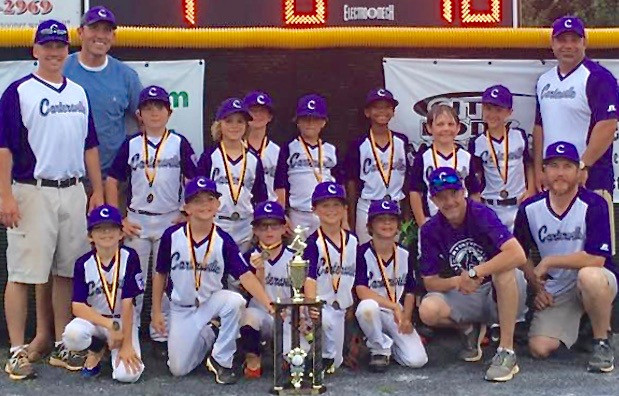 Cartersville Little League 7 and 8 year old team A won the 2017 District 1 title with a three-game sweep of Rockmart.