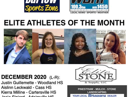 December Elite Athletes of the Month