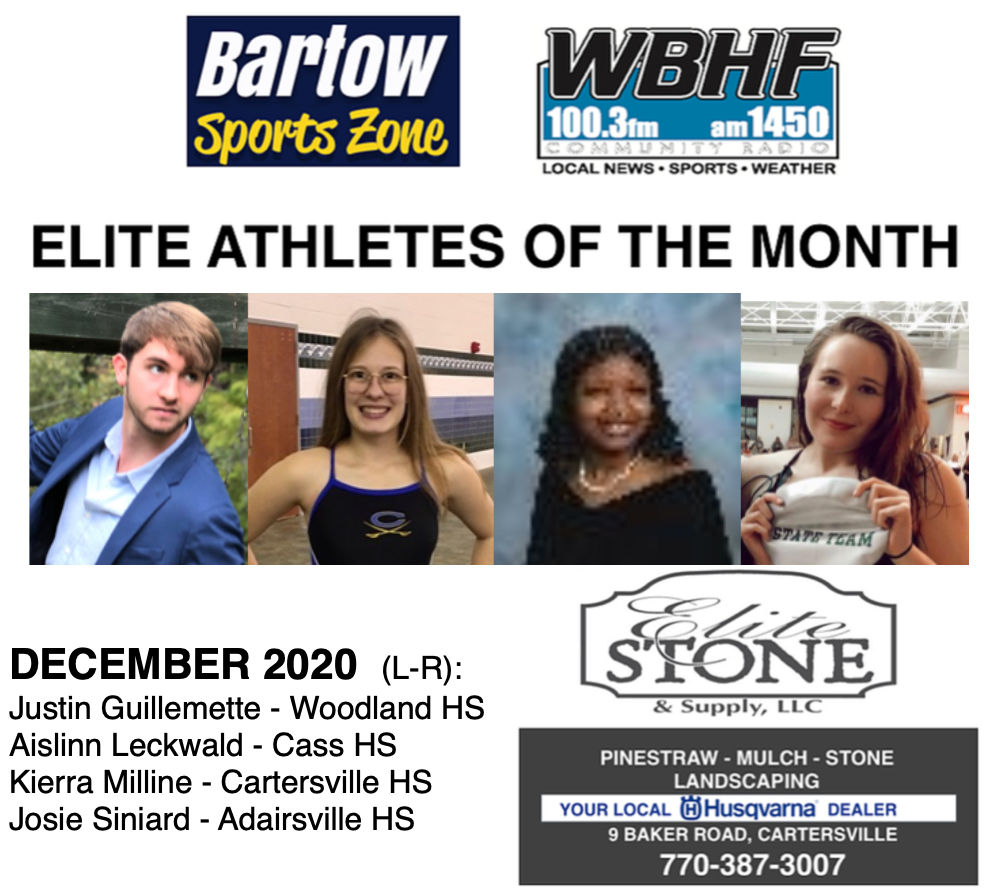December 2020 Elite Athletes of the Month
