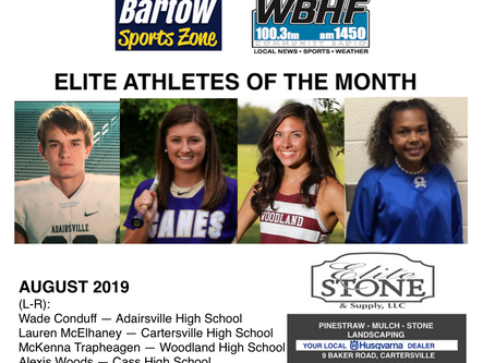 August 2019 Elite Athletes of the Month