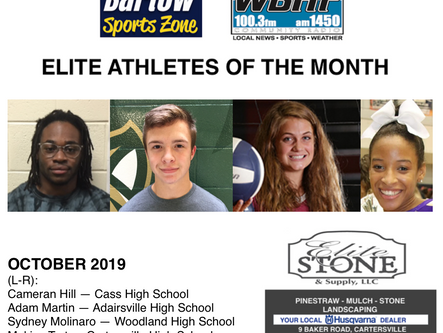October 2019 Elite Athletes of the Month
