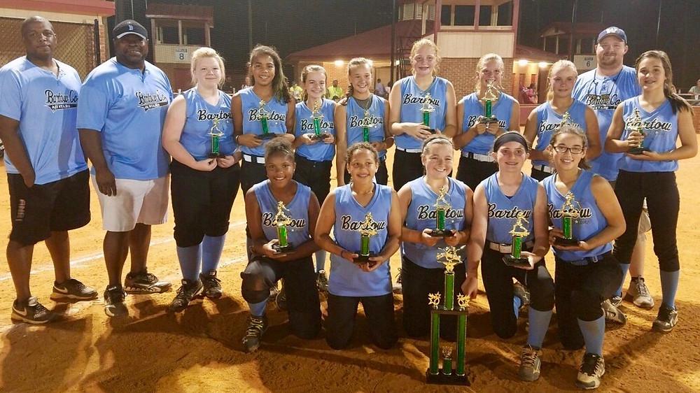 Bartow White 12U softball all-stars win GRPA Distrcit 5 title.