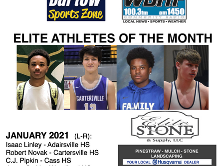 January Elite Athletes of the Month