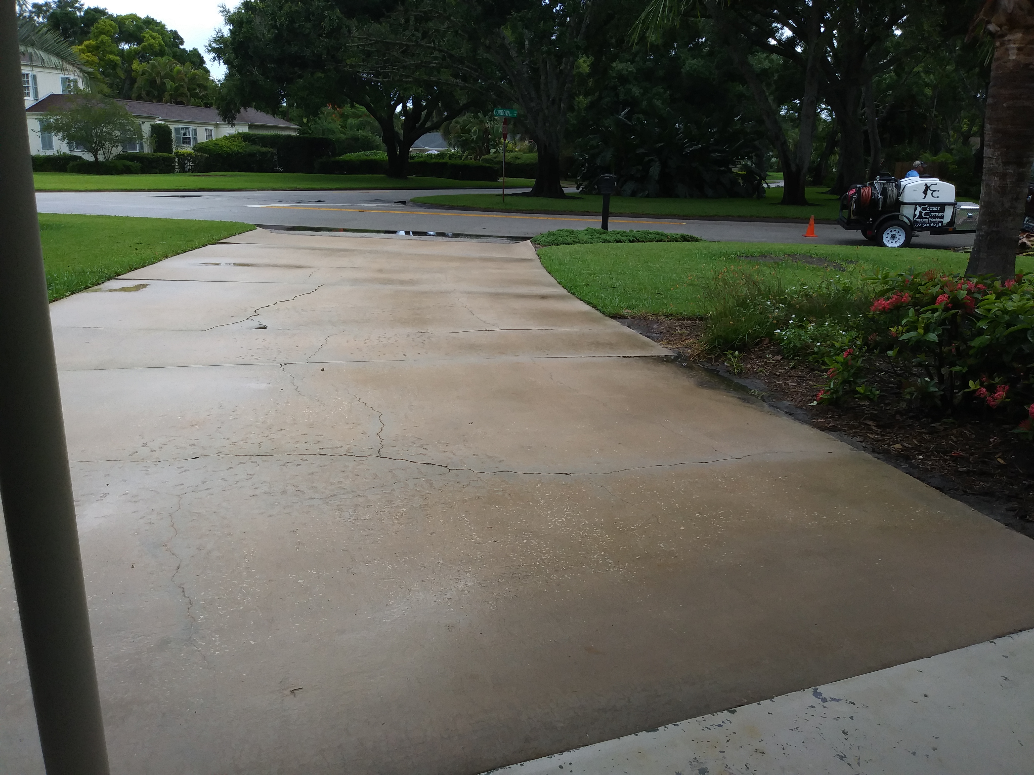 After Driveway Pressure Washing 2