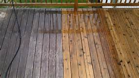 deck pressure cleaning