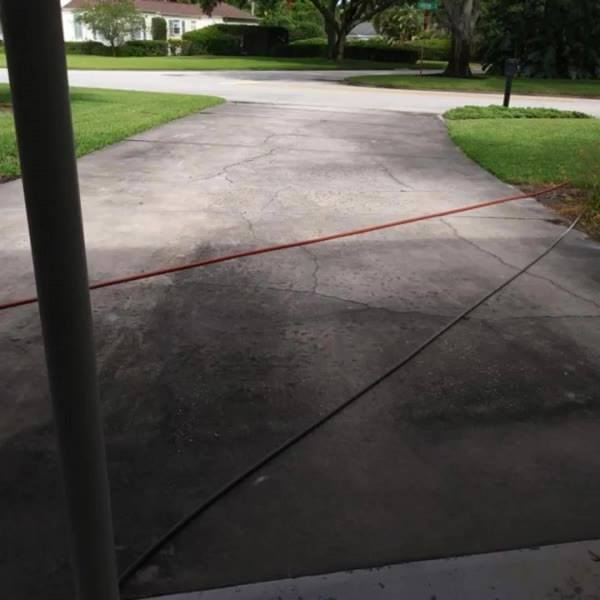 Driveway Cleaning!! BEFORE & AFTER Call us about this Months Driveway SPECIAL!! 772-501-6238 #PRESSUREWASHING #VEROBEACH