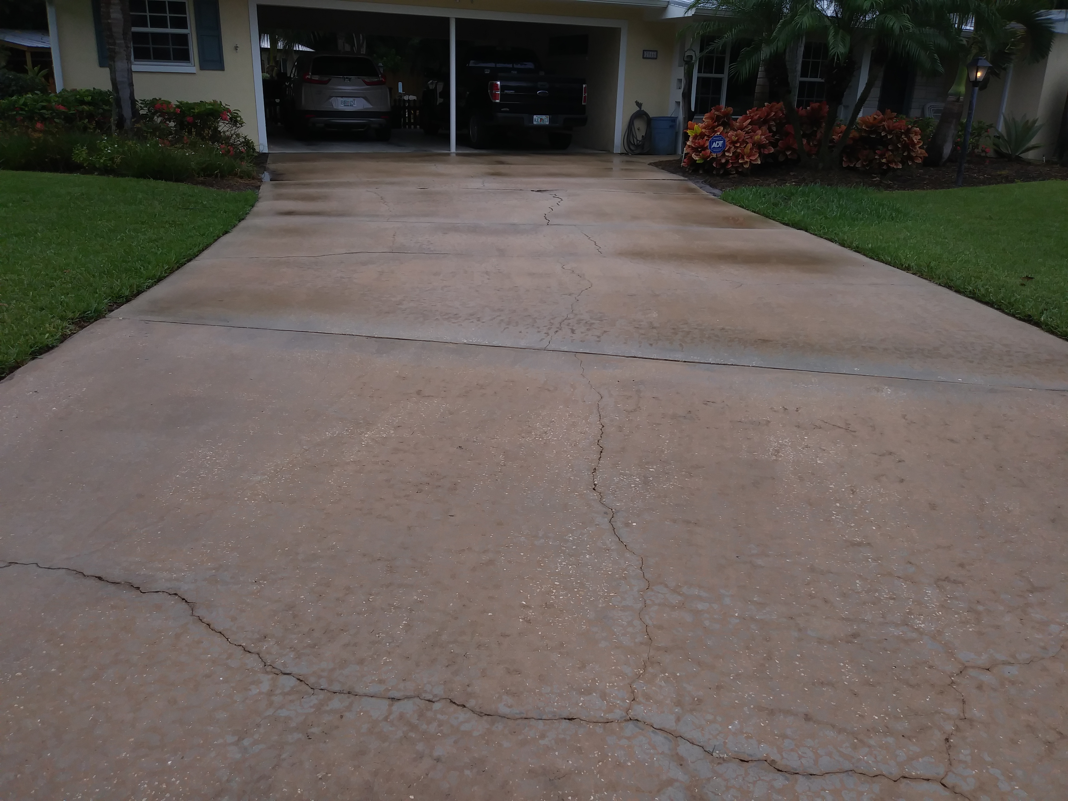 After Driveway Pressure Washing