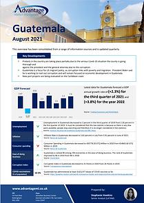 Guatemala economic summary report August 2021
