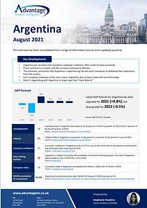 Argentina economic summary report August 2021