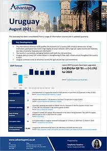 Uruguaay update report August 2021