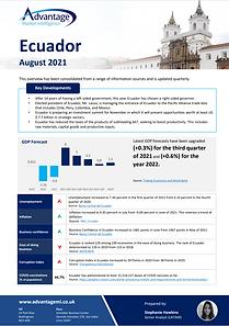 Ecuador economic summary report August 2021
