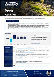 Peru economic summary report August 2021