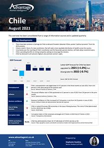 Chile economic summary report August 2021