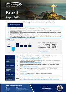 Brazil economic summary report August 2021